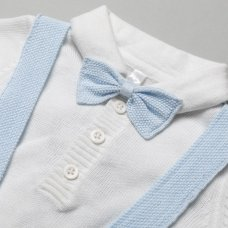 R18080: Baby Boys Cable Knit 3 Piece Outfit (0-9 Months)