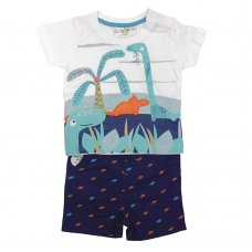 R18144: Baby Boys Dinosaur T-Shirt & Short Set (3-24 Months)