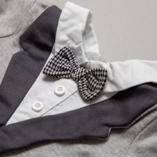 R18174: Baby Boys Tuxedo 2 Piece Set On A Satin Padded Hanger (0-12 Months)