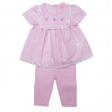 R18195: Baby Girls Tunic Dress & Legging Set (0-12 Months)