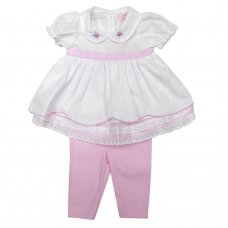 R18196: Baby Girls Tunic Dress & Legging Set (0-12 Months)