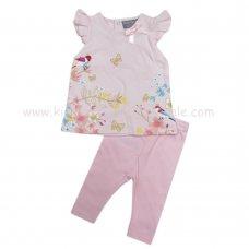 R18207: Baby Girls Flowers T-Shirt & Legging Set (0-12 Months)