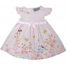 R18208: Baby Girls Flowers Dress (0-12 Months)
