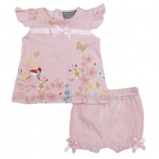 R18355: Baby Girls Flowers Top & Short Set (0-12 Months)