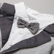 R18219: Baby Boys Tuxedo All In One On A Satin Padded Hanger (0-12 Months)