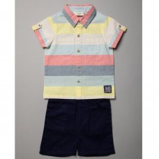 R18314:  Baby Boys Shirt & Chino Short Outfit (6-24 Months)