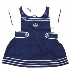 R18326: Baby Girls Nautical Dress & T-Shirt Set (0-9 Months)