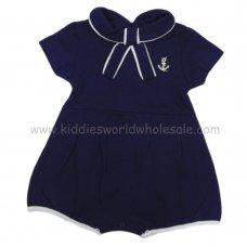 R18332: Baby Boys Nautical Pique Romper (0-12 Months)