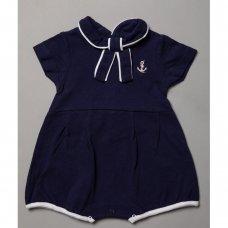 R18332: Baby Nautical Pique Romper (0-12 Months)
