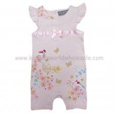 R18209: Baby Girls Flowers Romper (0-12 Months)