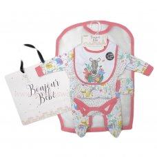 R18421: Baby Girls Jungle 6 Piece Net Bag Gift Set (NB-6 Months)