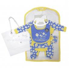 R18422: Baby Girls Daisy & Bees 6 Piece Net Bag Gift Set (NB-6 Months)