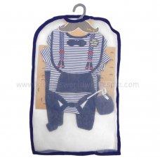 R18423: Baby Boys 6 Piece Net Bag Gift Set (NB-6 Months)