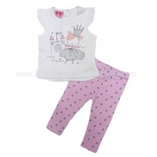 R18516: Baby Girls Fairy Princess T-Shirt & Legging Outfit (6-24 Months)