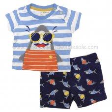 R18521: Baby Boys 3D Shark T-Shirt & Short Set (3-24 Months)