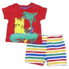 R18553: Baby Boys Safari Animals T-Shirt & Short Set (3-24 Months)
