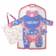 R18564: Baby Girls Floral 6 Piece Net Bag Gift Set (NB-6 Months)