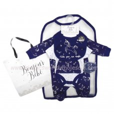 R18571: Baby Unicorns 6 Piece Net Bag Gift Set (NB-6 Months)