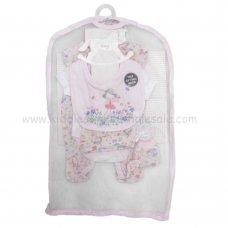 R18595: Baby Girls Fairy 6 Piece Net Bag Gift Set (NB-6 Months)