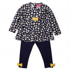 R18604: Baby Girls Daisy Printed Top & Legging Outfit (3-24 Months)