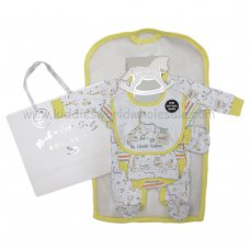 R18615: Baby Unisex Toy Box 6 Piece Net Bag Gift Set (NB-6 Months)