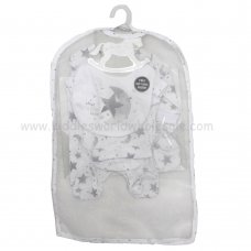 R18619: Baby Unisex Little Star 6 Piece Net Bag Gift Set (NB-6 Months)