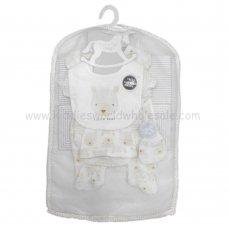 R18622: Baby Unisex Little Bear 6 Piece Net Bag Gift Set (NB-6 Months)