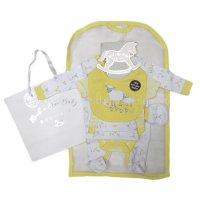 R18625: Baby Unisex Farm 6 Piece Net Bag Gift Set (NB-6 Months)