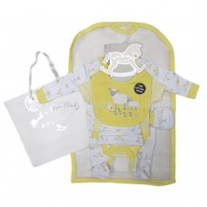 R18625: Baby Unisex Farm 6 Piece Net Bag Gift Set (NB-6 Months)