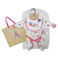 R18626: Baby Girls Pony 6 Piece Net Bag Gift Set (NB-6 Months)