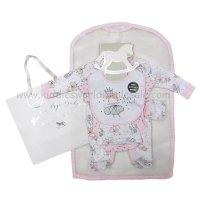 R18632: Baby Girls Fairy 6 Piece Net Bag Gift Set (NB-6 Months)