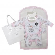 R18632: Baby Girls Fairy 6 Piece Net Bag Gift Set (NB-6 Months)