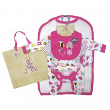 R18718: Baby Girls Fun Brights 6 Piece Mesh Bag Gift Set (NB-6 Months)