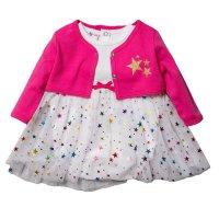 R18720: Baby Girls Tutu Bodysuit Dress & Bolero Set (0-9 Months)