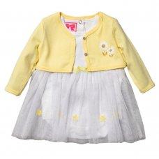 R18729: Baby Girls Tutu Bodysuit Dress & Bolero Set (0-9 Months)