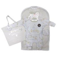 R18737: Baby Unisex Ducks 6 Piece Net Bag Gift Set (NB-6 Months)