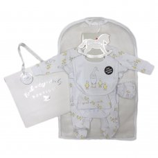 R18737: Baby Unisex Ducks 6 Piece Net Bag Gift Set (NB-6 Months)