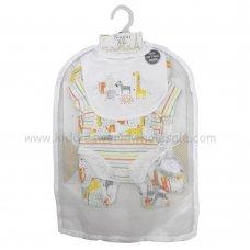 R18738: Baby Unisex Animals 6 Piece Net Bag Gift Set (NB-6 Months)