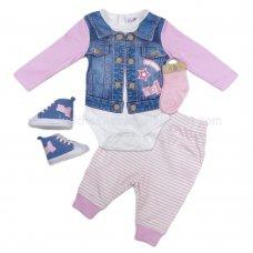 Baby girl trousers long sleeve top gilet waistcoat set Dizzy Daisy
