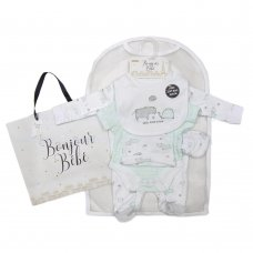 R18812: Baby Unisex Hippo 6 Piece Net Bag Gift Set (NB-6 Months)