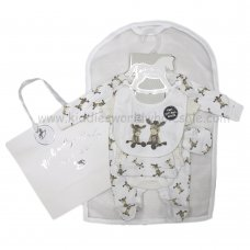R18875: Baby Unisex Donkey 6 Piece Net Bag Gift Set (NB-6 Months)