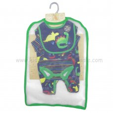 R18878: Baby Boys Dinosaur 6 Piece Net Bag Gift Set (NB-6 Months)