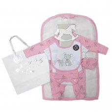 R18885: Baby Girls Mouse 6 Piece Net Bag Gift Set (NB-6 Months)