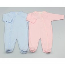 GF0252: Premature Baby Plain Colours Cotton Sleepsuits