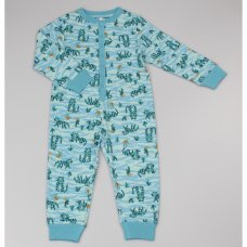 GF4185: Boys All Over Print Tiger Cotton Onesie (2-6 Years)