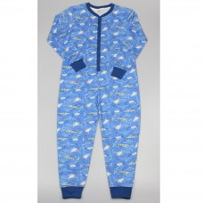 GF6189: Boys All Over Print Shark Cotton Onesie (7-12 Years)