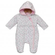 J1505: Baby Girls AOP Unicorn Quilted All In One (0-9 Months)