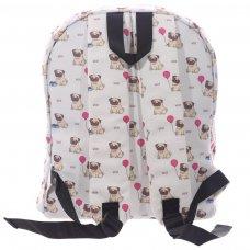 RUCK01: Cute Pug Rucksack Backpack