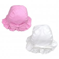 0234: Baby Girls Cloche With Bow (0-6 Months)