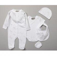 S18921: Baby Unisex Giraffe  6 Piece Mesh Bag Gift Set (NB-6 Months)